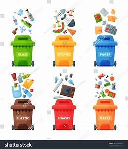 Waste Management Concept Segregation Separation Garbage ...