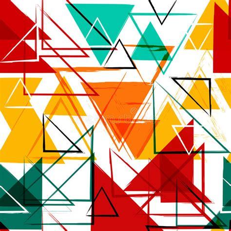 Abstract Geometric Shapes by Seamless Universal Geometric Modern Pattern Grunge