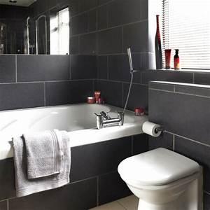 Salle De Bain Carrelage Noir : le salle de bain design en blanc et noir ~ Dailycaller-alerts.com Idées de Décoration