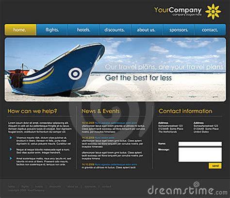 professional website template royalty  stock