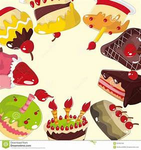 Cute Cartoon Cake Card Stock Images - Image: 20403194