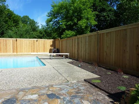 privacy fence for pool pin by fence consultants of west michigan on wood fence pinterest