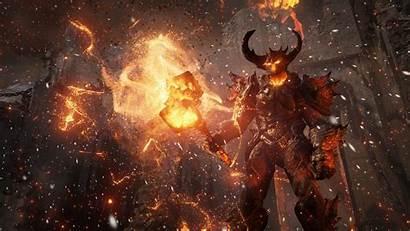 Unreal Engine Fiery Hammer Demon Wallpapers Games