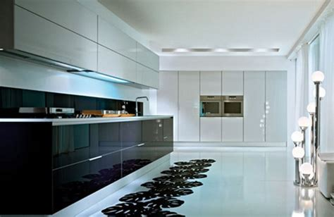 glossy black kitchen cabinets дизайн интерьера кухни в стиле минимализм фото каталог 3851