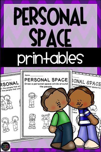 personal space social skills worksheets activities