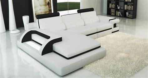 canapé noir et blanc design deco in canape d angle cuir blanc et noir design