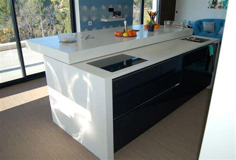 ilot cuisine avec table coulissante cuisine ilot central table manger nouveaux modèles de maison