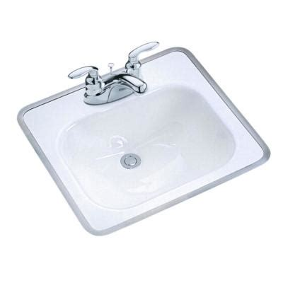 Home Depot Bathroom Sinks Drop In by Kohler Tahoe Drop In Cast Iron Bathroom Sink In White With