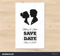 Save The Date Wedding Invitation With Profile Silhouettes Of Man And 20 Invitations Save The Dates Available To Print Download For Fre Save The Date White Winter Wedding Paper Invitation Card Free Printable Wedding Invitation Templates Best Template Collection