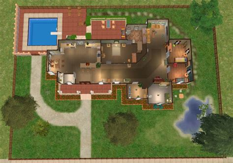 mod  sims pippenville   story  bedroom house basegame