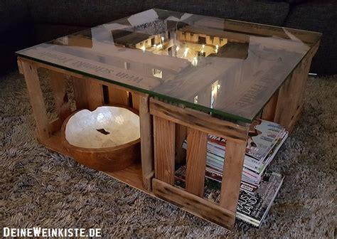 Tisch Aus Weinkisten Mit Glasplatte by Weinkisten Tisch Glasplatte Couchtische Chilli Milli