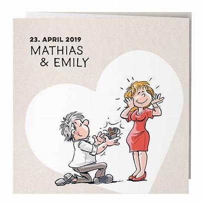 Comic Witzige Brautpaar Hochzeitskarte Grappig Heiratsantrag Trouwkaarten