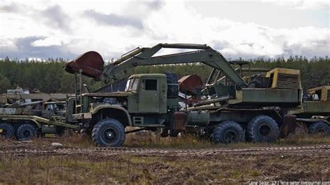 decommissioned equipment  russian engineering troops