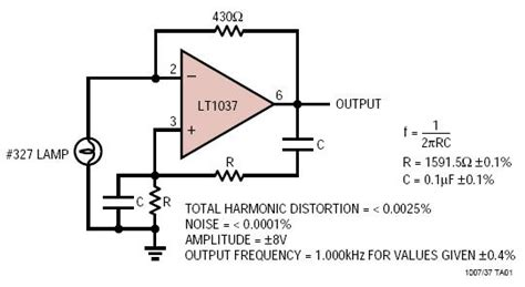 Ultrapure Khz Sine Wave Generator Circuit