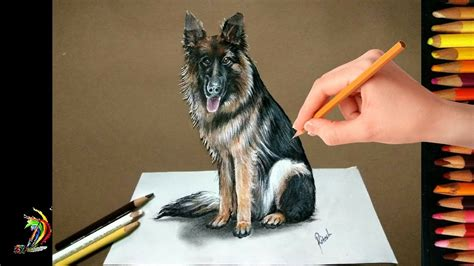 easy   draw  dog drawing  dog  paper realistic drawing  dog youtube