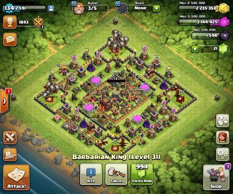 clash of clans cv 9 5 barato muros semi 11 dfg