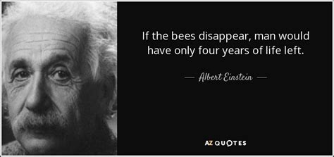 Albert Einstein Quote If The Bees Disappear, Man Would