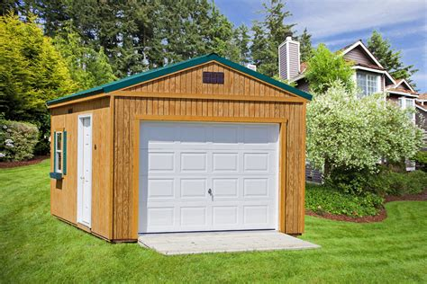 garage sheds 1 or 2 car outdoor storage sheds rto