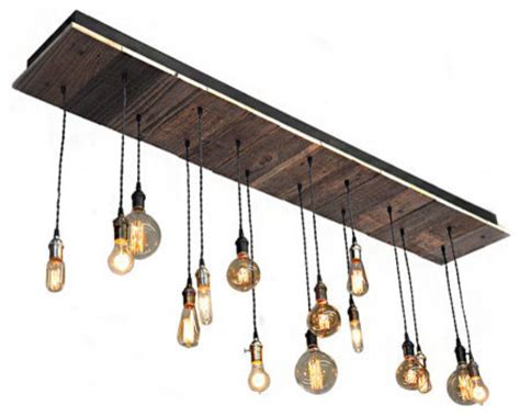 reclaimed wood rustic light fixture suspended rustic