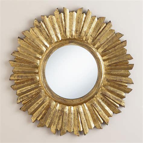 Vintage Sunburst Mirror by Small Antique Gold Leila Sunburst Mirror World Market