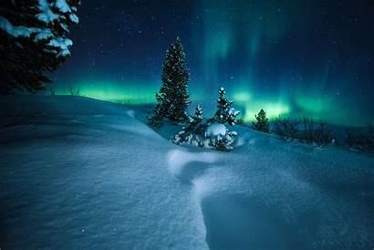 Lights Northern Norway Arctic Circle 4k Wallpapers