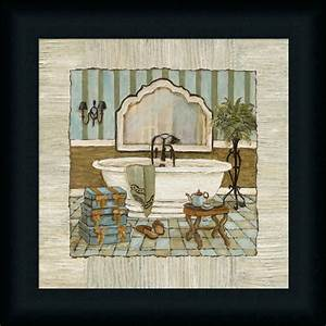 Vintage Luxe II Bathtub Bathroom Décor Framed Art Print ...