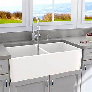 Nantucket, Sinks, Cape, 33, U0026quot, X, 18, U0026quot, Double, Basin, Farmhouse, Kitchen, Sink, U0026, Reviews