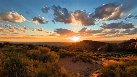 mountain sunset view wallpaper