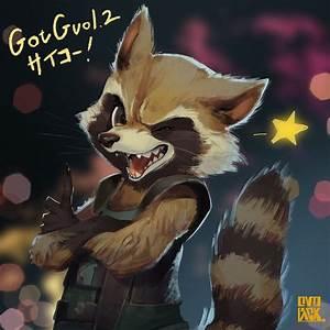 Rocket Raccoon GotG vol 2 fanart. : marvelstudios