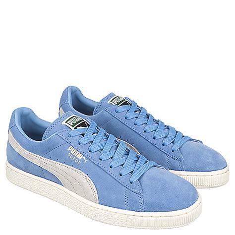 light blue puma shoes puma suede classic men 39 s light blue casual lace up shoe