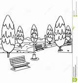 Park Coloring Bench Trees Benches Pages Tree Hand Designlooter Drawn Sketch Drawings Chair 1300px 1218 7kb Template sketch template