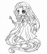 Rapunzel Pages Cute Tangled Coloring Printable Princess Disney Activity Colors sketch template