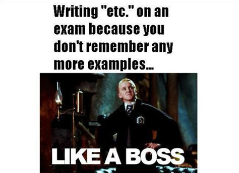 Exams Meme - college memes final exams edition 2 guest starring ryan gosling draco malfoy will smith