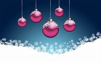 Christmas Pink Wallpapers Background Tree Balls Ornaments