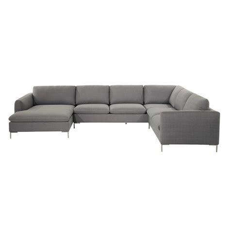 canapé d angle gris clair canapé d 39 angle 8 places en tissu gris clair city maisons