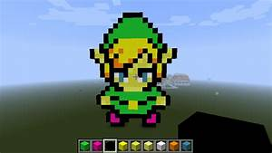 Link Minecraft Pixel Art by Mrpokefan108 on DeviantArt