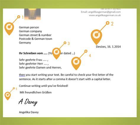 write  german business letter angelikas german