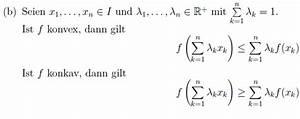 Zerfallskonstante Berechnen : beweis konvexe und konkave funktionen mathelounge ~ Themetempest.com Abrechnung