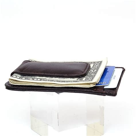 Maybe you would like to learn more about one of these? Mens Leather Money Clip Slim Front Pocket Wallet Magnetic ID Credit Card Holder   eBay