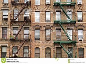 The Typical Fire Stairs On Old House In New York Stock