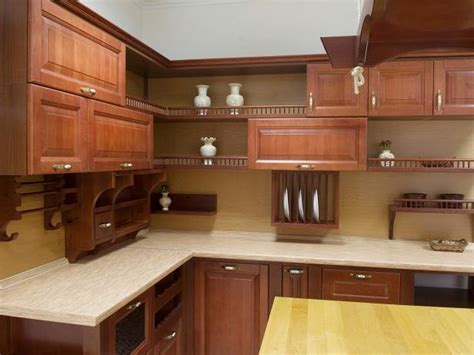 oak kitchen cabinets ideas open kitchen cabinets pictures ideas tips from hgtv hgtv 3573