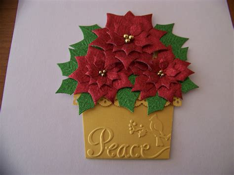 ann greenspan s crafts poinsettia flower pot card