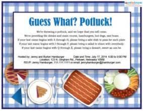 free potluck invitation cake ideas and designs