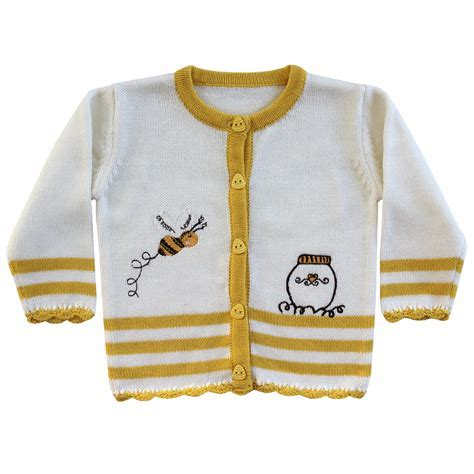 Bumble Bee Knitted Cardigan   Powell Craft