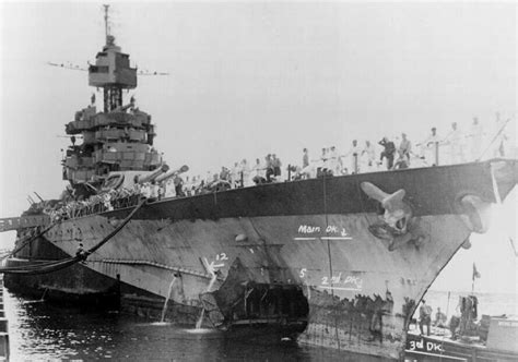 Boat Shipping Arizona by Uss Maryland Bb 46 Was Hit At Pearl Harbor But Back In