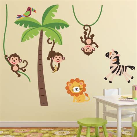 tapis animaux de la jungle sticker animaux de la jungle stickers chambre b 233 b 233 stickers enfant fanastick