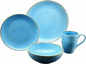 Geschirr Set Vintage : creatable geschirr set steinzeug 4 teile nature collection aqua online kaufen otto ~ Markanthonyermac.com Haus und Dekorationen