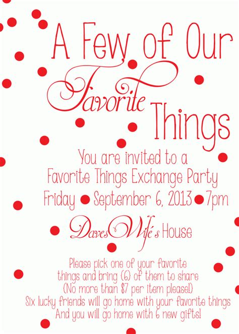 favorite  party invite favoritethingsparty