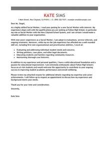 Cover Letters For Social Workers Best Social Worker Cover Letter Exles Livecareer