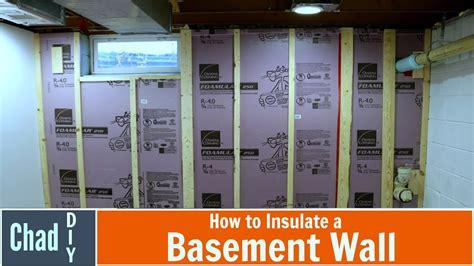 insulate  basement wall youtube